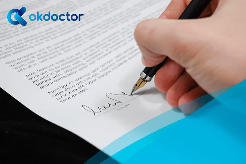 contrato en centro médico- claúsulas